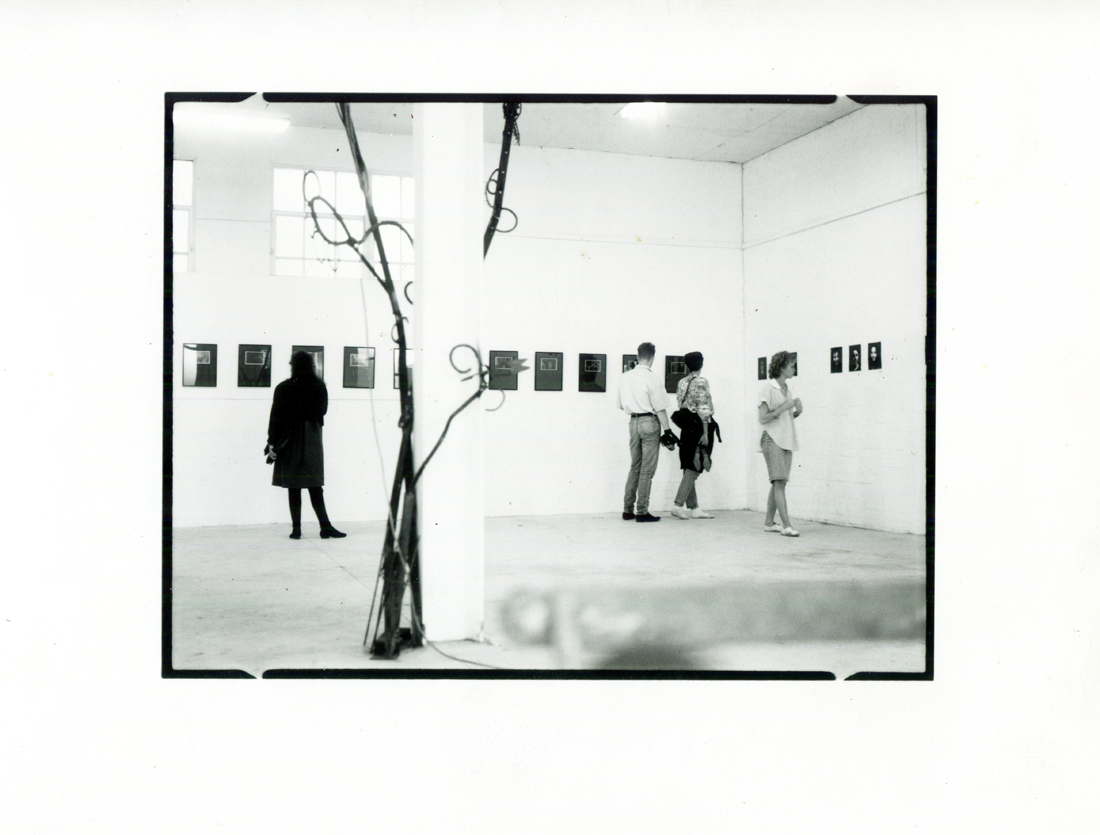 Occlusion exhibition curated by The Observatory Collective, Lehan Ramsay, Robyn Gray, Anna Zsoldos, Jay Younger at That Contemporary Art Space, November 1986 PHOTO: Attributed to Anna Zsoldos and Lehan Ramsay 1986