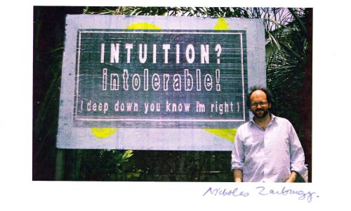 Nicholas Zurbrugg, Artist, The Billboard Project, 1989-1990 Photo: Anna Zsoldos and Lehan Ramsay