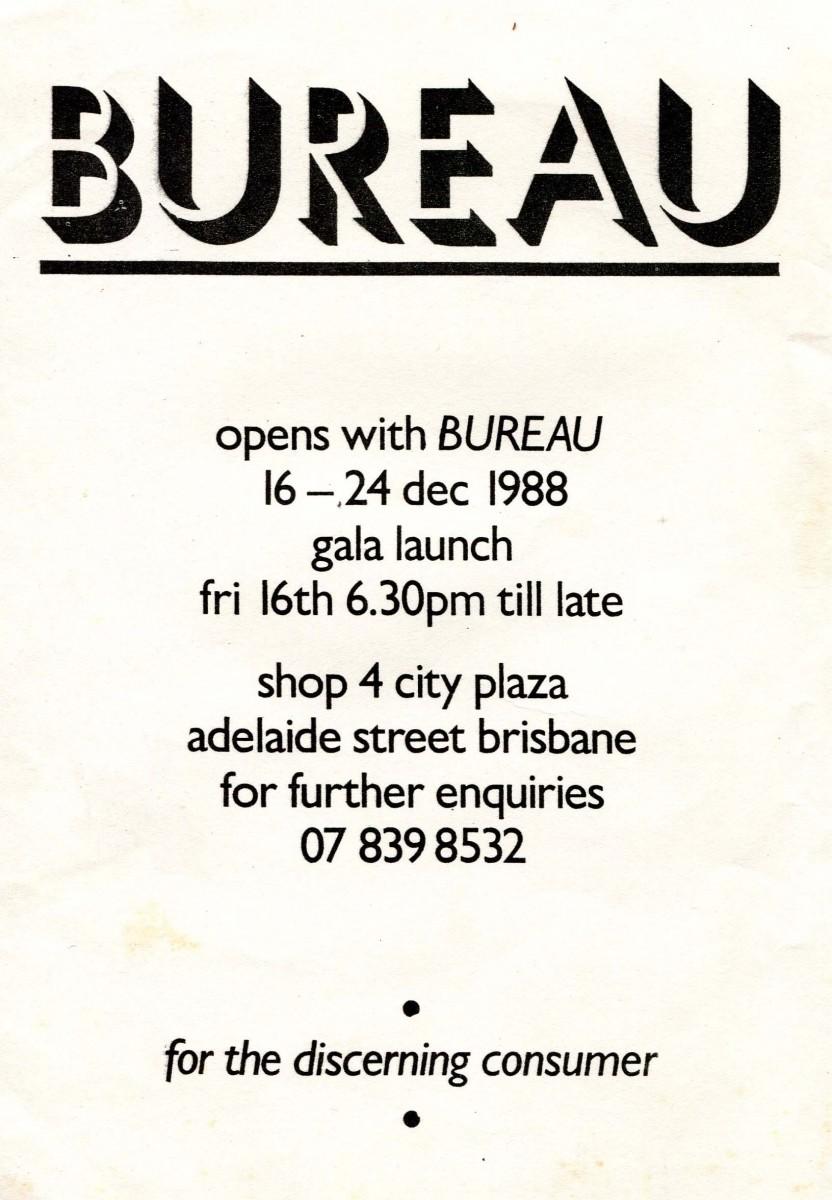 Bureau Gala Launch 1988