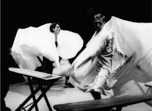 David Clarke and Mark Ross in Ironing Board Dance No 6. Photographer Michael Richards.