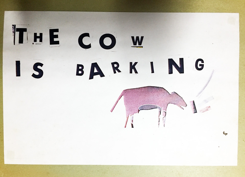 "The Cow is Barking, Eugene Carchesio and Ian McIntosh ""Bedroom Art"" 1982 (approx)"