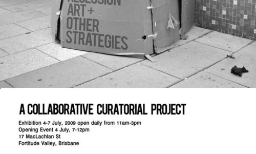 Recessional Art + Other Strategies, Exhibition Postcard by inbetweenspaces 2009