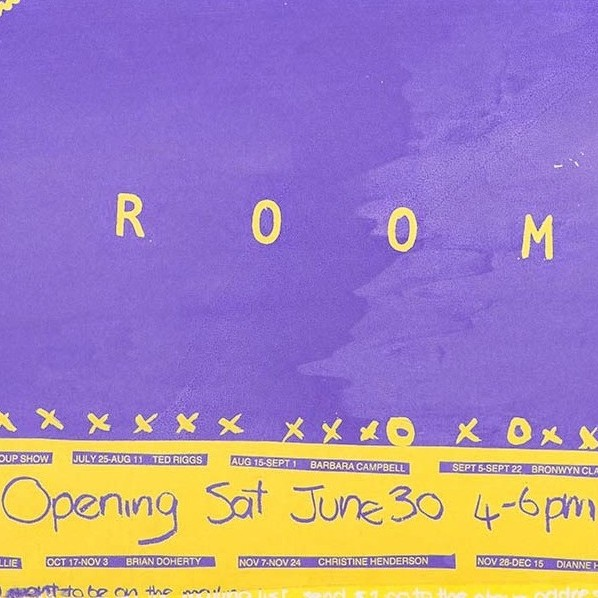 Exhibition Poster- A Room - Courtesy of QAGOMA Library Collection