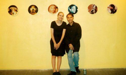 Isn't artist-run,artist Hiram To with artist Lucinda Elliot, circa 1993 Brisbane PHOTO: Unknown