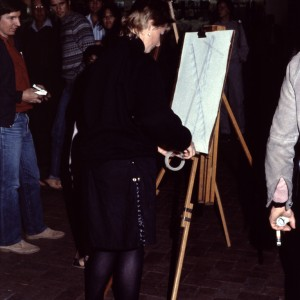 Ted Riggs drawing performance 1983