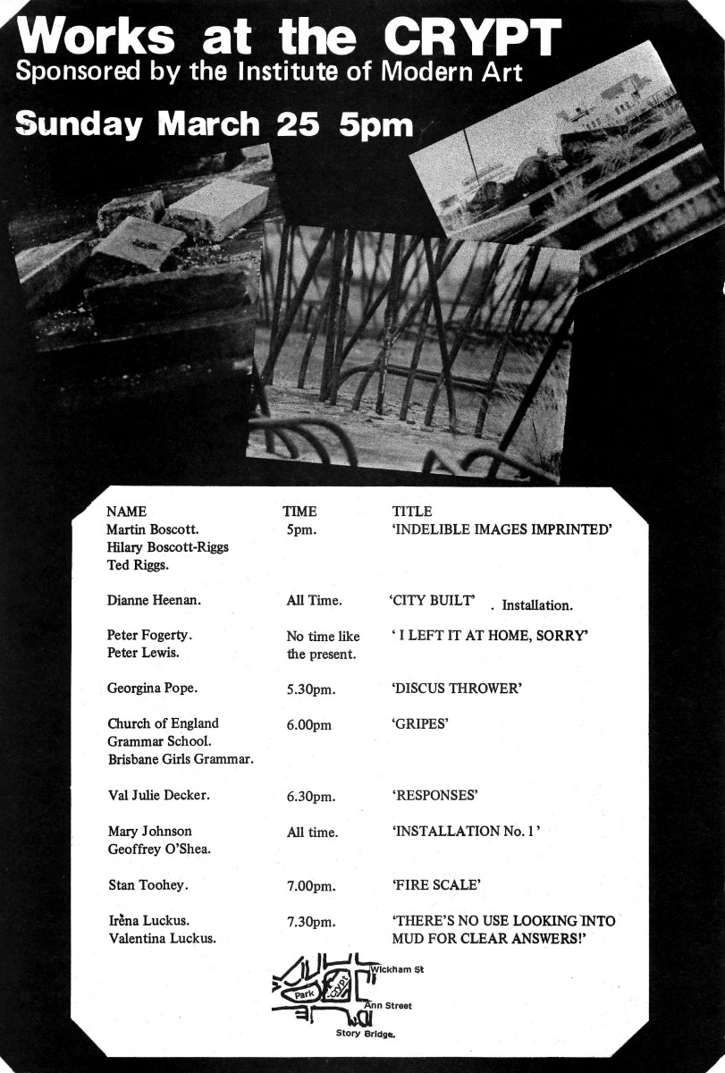 1979_Dianne Heenan_Exhibition Flyer_Works at the Crypt