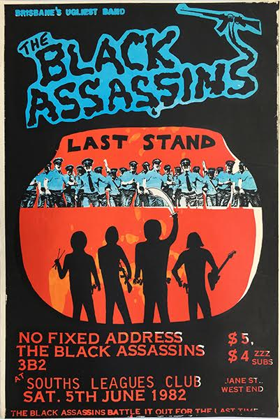 The Black Assassins, Last Stand, Poster, 1982. Collection of Brian Doherty.