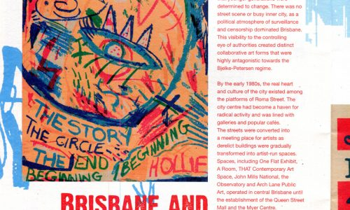 Hollie Poster Brisbane Artist-Run Spaces small