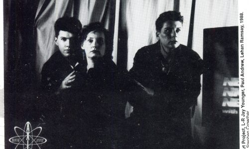 Artists Paul Andrew Jay Younger, Lehan Ramsay PHOTO: Stephen Crowther 1988