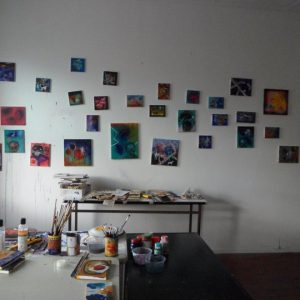 Artist in residence studio shot - Stephen Spurrier