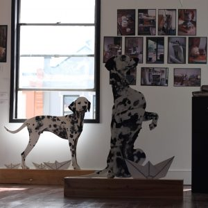The Studio Project exhibition view featuring work by Damien Kamholtz